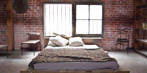 industriele slaapkamer inrichting