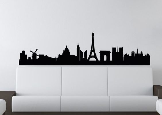 Muurstickers in de woonkamer - Sense of the City
